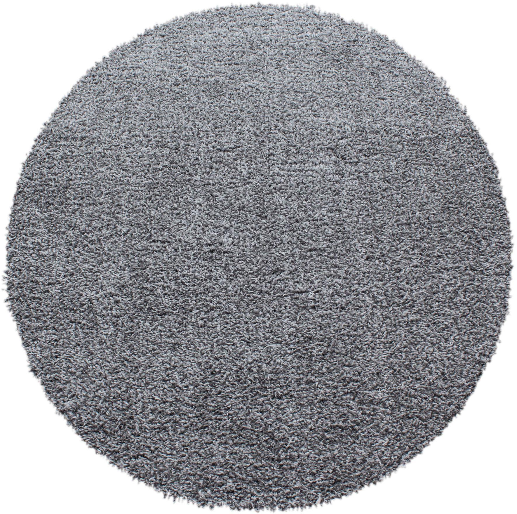 Hochflor-Teppich Ancona 9000 Ayyildiz rund Höhe 50 mm maschinell gewebt