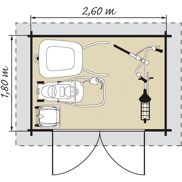 Kiehn-Holz Gartenhaus »Mellenberg 1«, BxT: 309x223 cm, inkl. Fußboden