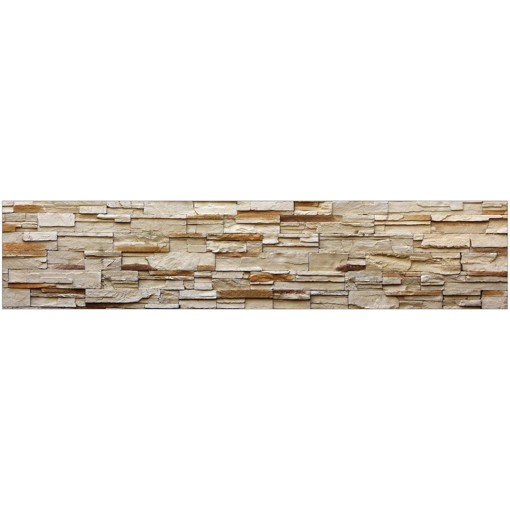 MySpotti Küchenrückwand »fixy Rustical Bricks«, selbstklebende und flexible Küchenrückwand-Folie