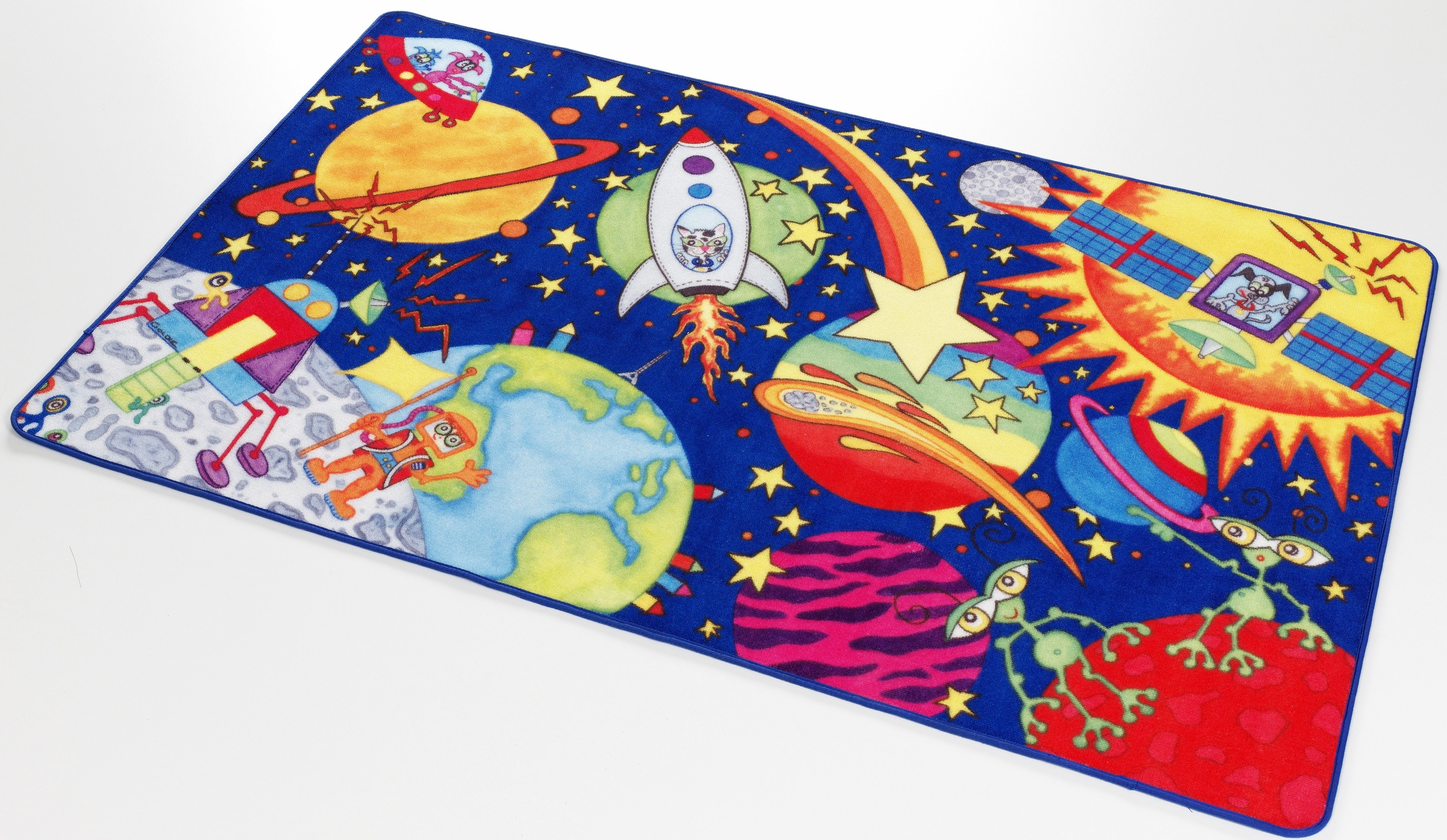 Kinderteppich Weltall WA-1 Böing Carpet rechteckig Höhe 2 mm