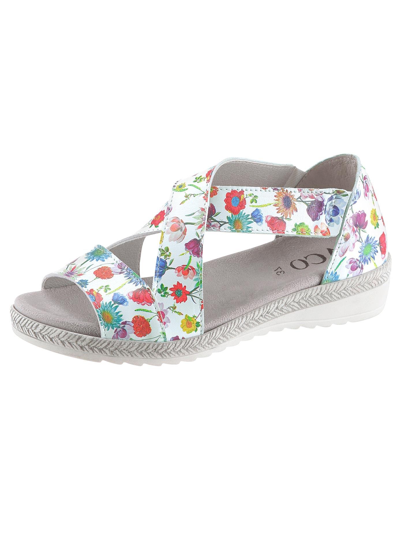 Aco Sandalette bunt Damen Sandaletten Sandalen
