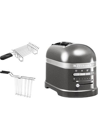 KitchenAid Toaster »Artisan 5KMT2204EMS«, 2 kurze Schlitze, für 2 Scheiben, 1250 W kaufen