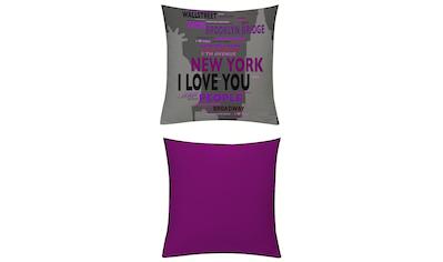 Kissenhüllen, »New York Blau - Beere«, emotion textiles kaufen