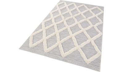 MINT RUGS Teppich »Ayoun«, rechteckig, 35 mm Höhe, In- und Outdoor geeignet, Hoch-Tief-Struktur, Wohnzimmer kaufen
