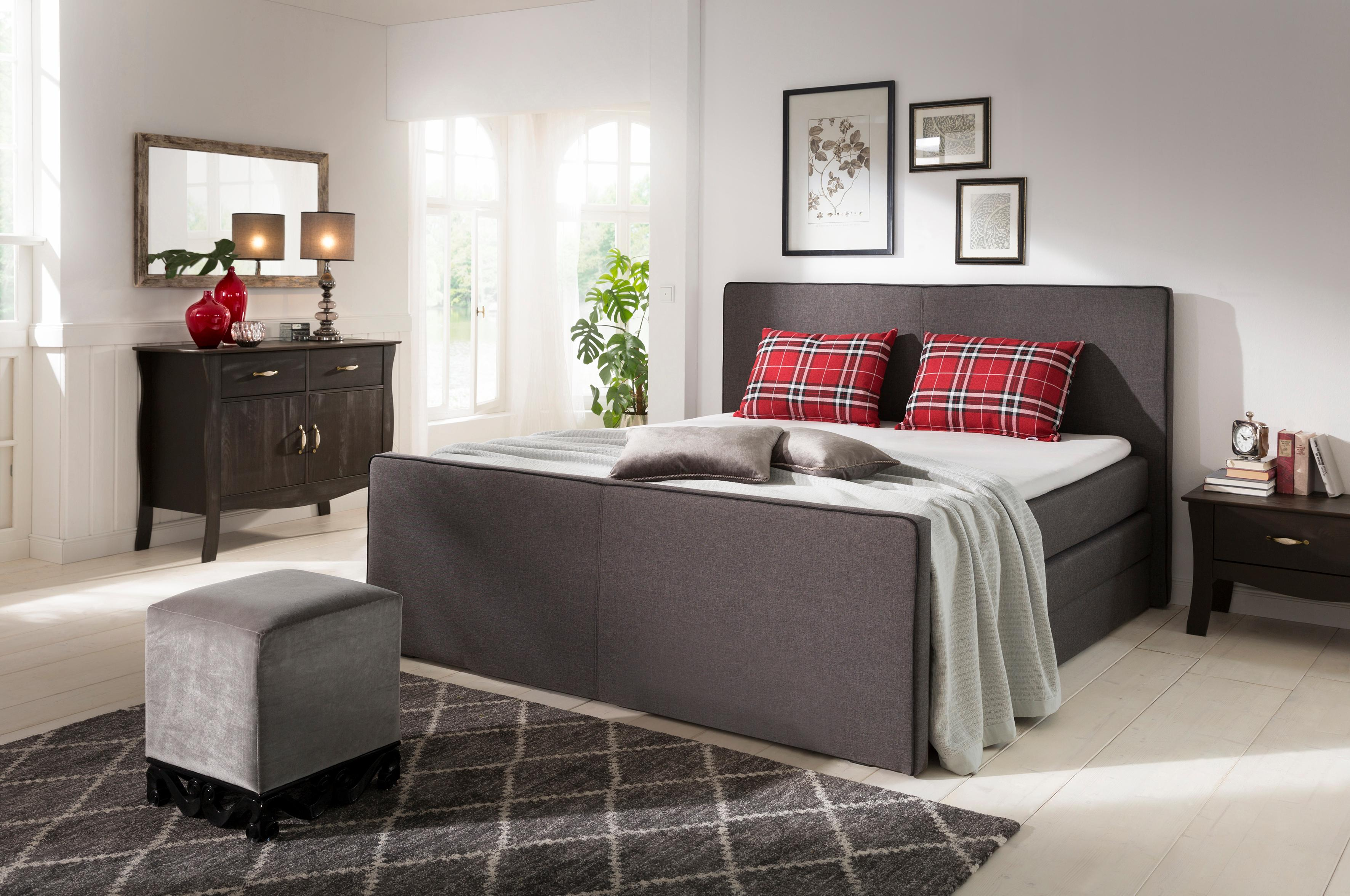 Home affaire Boxspringbett Memphis mit Bettkasten und Topper
