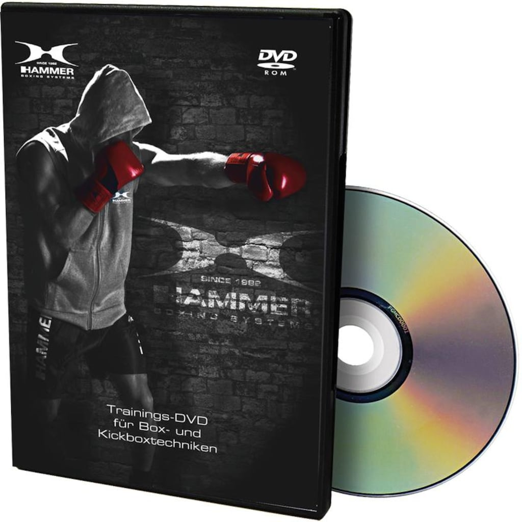 Hammer Boxsack »Sparring Professional«, (Set, mit Trainings-DVD-mit Boxhandschuhen-mit Sprungseil-mit Haken)