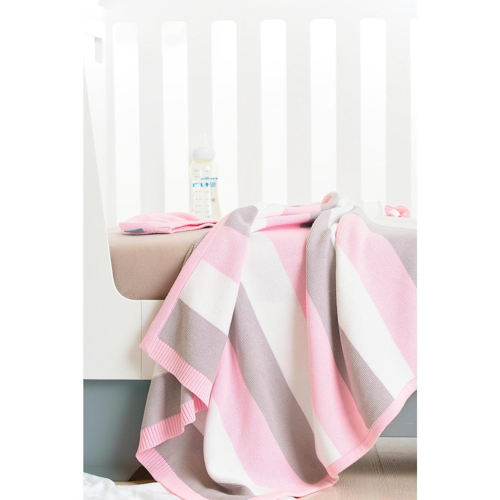 SEI Design Babydecke »Bande«, mit Streifen