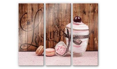 Wall-Art Mehrteilige Bilder »Lustiger Spruch Kuchen 3-tlg«, (Set, 3 St.) kaufen