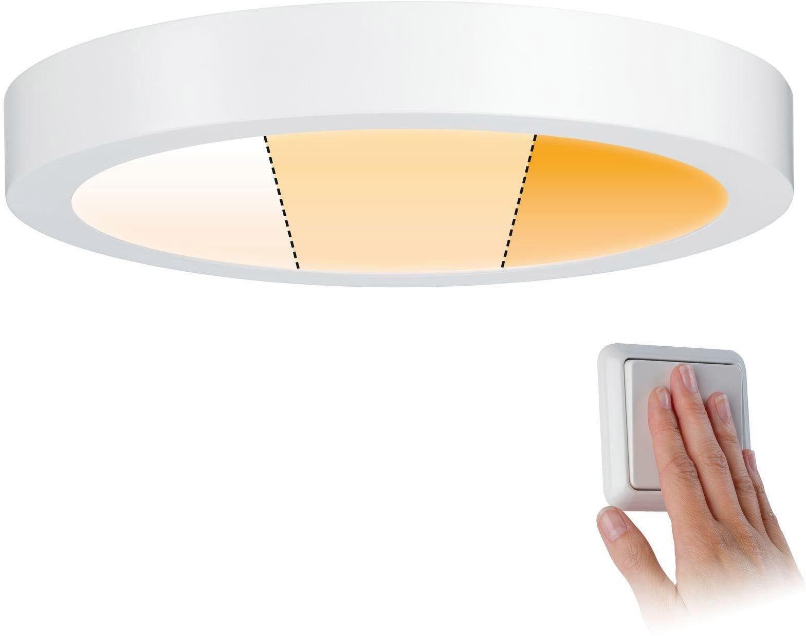 Paulmann LED Panel Carpo Warmdimmfunktion weiß matt 16W Metall, Warmweiß-Extra-Warmweiß, LED Deckenleuchte, LED Deckenlampe