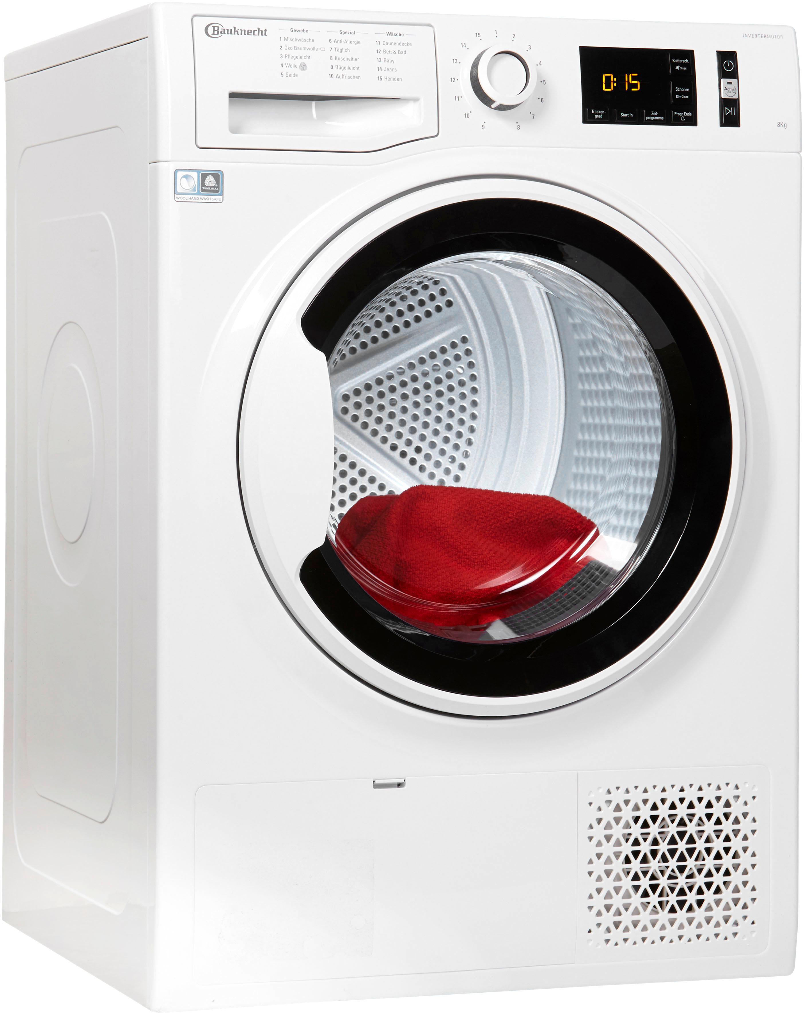 BAUKNECHT Wärmepumpentrockner T Soft M11 82WK DE 8 kg | Bad > Waschmaschinen und Trockner | Weiß | Bauknecht