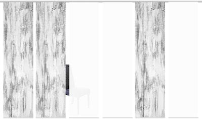 HOME WOHNIDEEN Schiebegardine »HOLARI 6er SET«, Dekostoff-Seidenoptik, Digital bedruckt kaufen