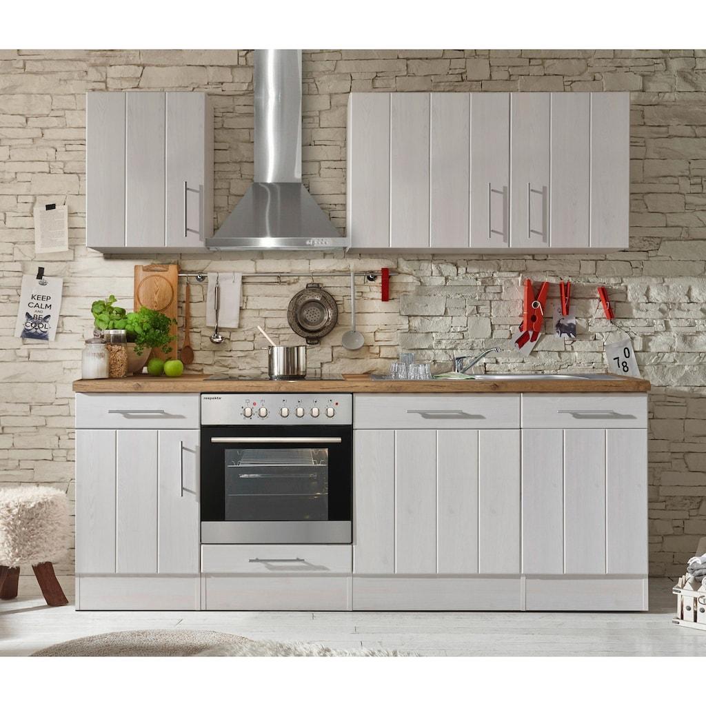 RESPEKTA Küchenzeile »Ulm«, mit E-Geräten, Breite 220 cm