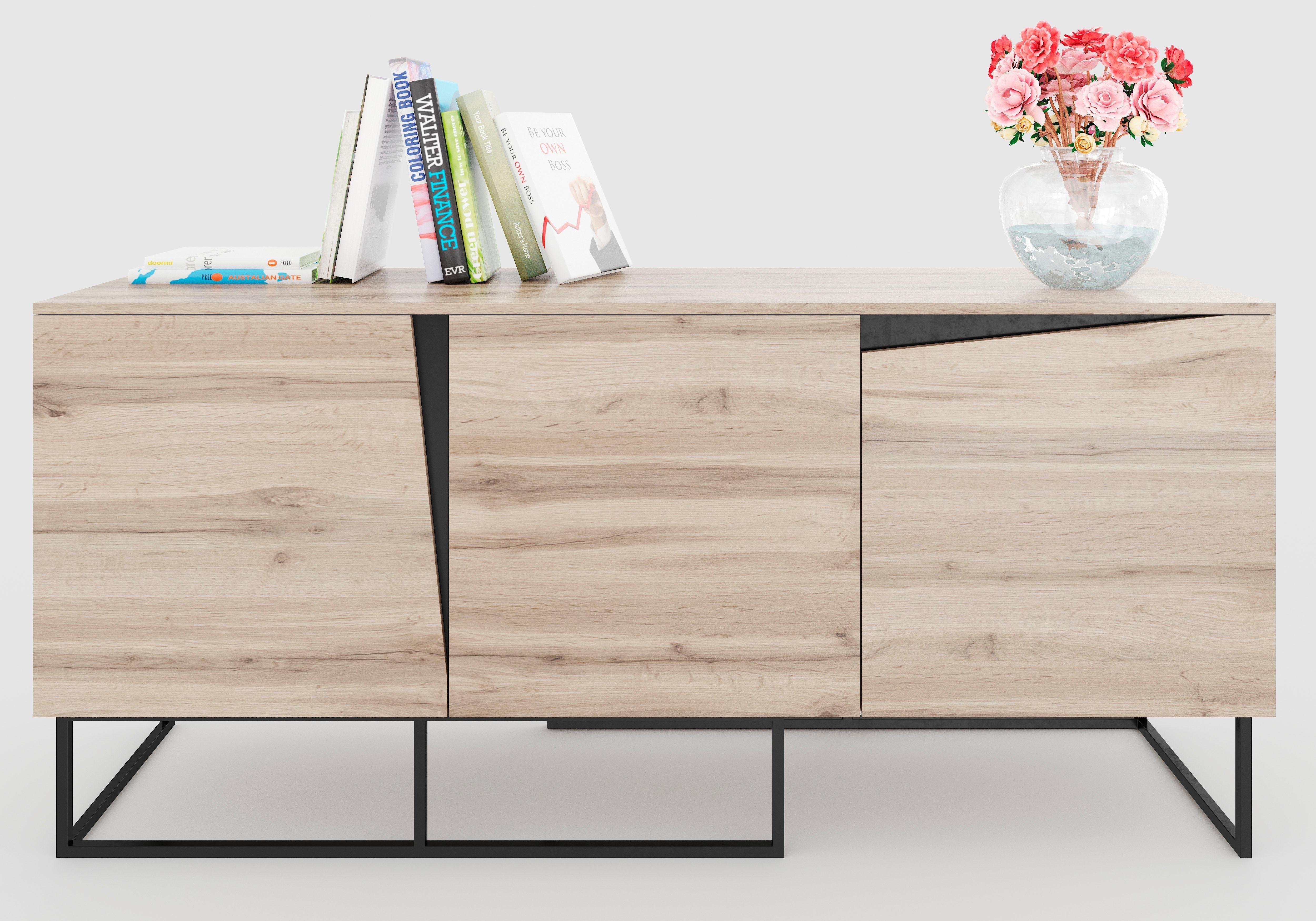 Home affaire Sideboard Carv Breite 165 cm