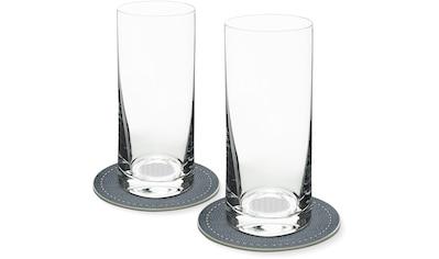 Contento Longdrinkglas, (Set, 4 tlg., 2 Longdrinkgläser und 2 Untersetzer), Blume des... kaufen