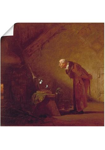 Artland Wandbild »Der Alchimist. Um 1855/60«, Mann, (1 St.), in vielen Größen &... kaufen