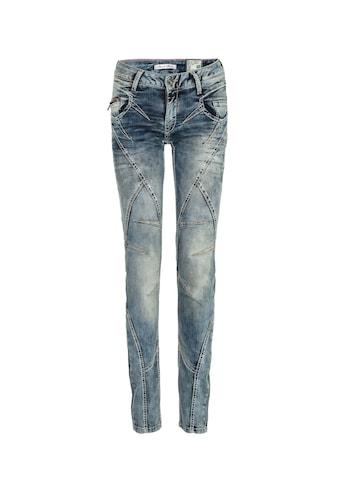 Cipo & Baxx Slim-fit-Jeans, mit Ziernähten in Straight Fİt kaufen