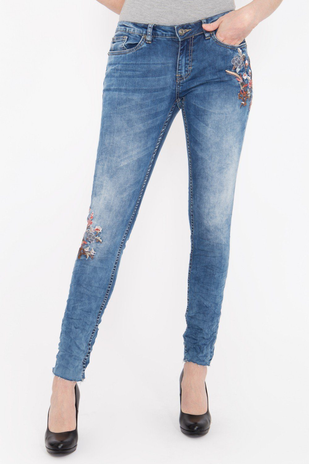 blue monkey -  Skinny-fit-Jeans Piper 9033