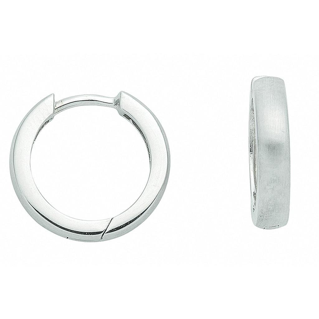 Adelia´s Paar Ohrhänger »585 Weißgold Ohrringe / Creolen Ø 13,3 mm«, 585 Gold Goldschmuck für Damen
