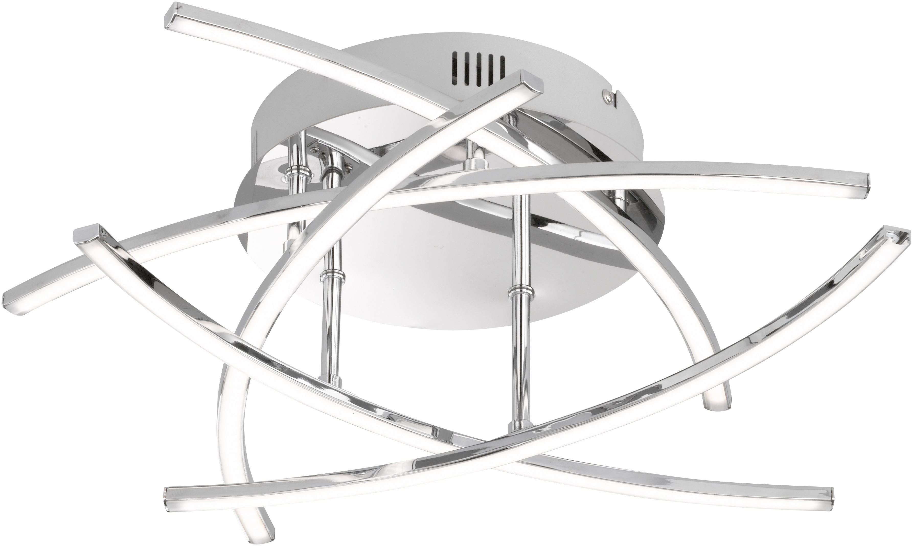 FISCHER & HONSEL LED Deckenleuchte Cross, LED-Modul, Warmweiß
