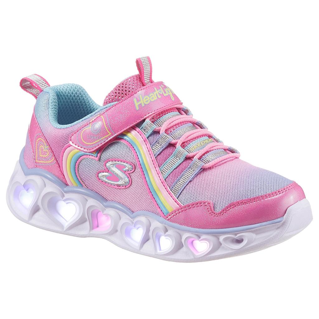 Skechers Kids Sneaker »HEART LIGHTS«, mit Klettverschluss und Gummizug