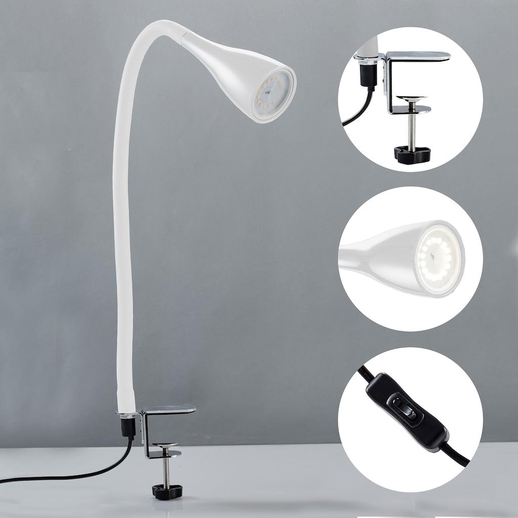 B.K.Licht LED Klemmleuchte »Sirius«, GU10, Warmweiß, LED Tischleuchte dimmbar Schreibtisch Büroleuchte Nachttisch-Lampe