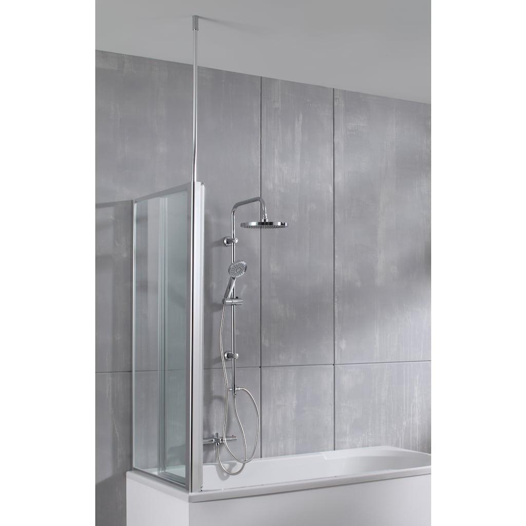 welltime Badewannenaufsatz »Summer 3-teilig + feste Seitewand«, Deckenhöhe bis 240cm geeignet
