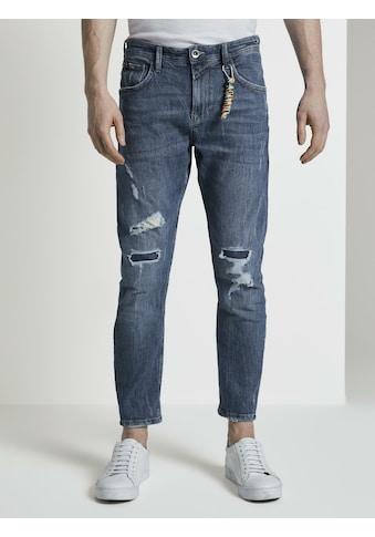 TOM TAILOR Denim 7/8 - Jeans »Cropped Conroy Jeans mit Destroys« kaufen