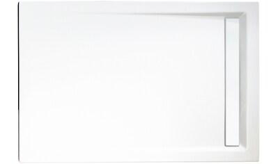 SCHULTE Set: Duschwanne »extra - flach«, rechteckig mit Rinne, verschiedene Maße kaufen