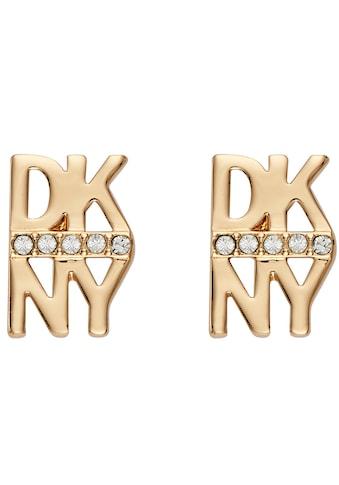 DKNY Paar Ohrstecker »Stacked Pave Logo Stud ER (GL), 5520004« kaufen
