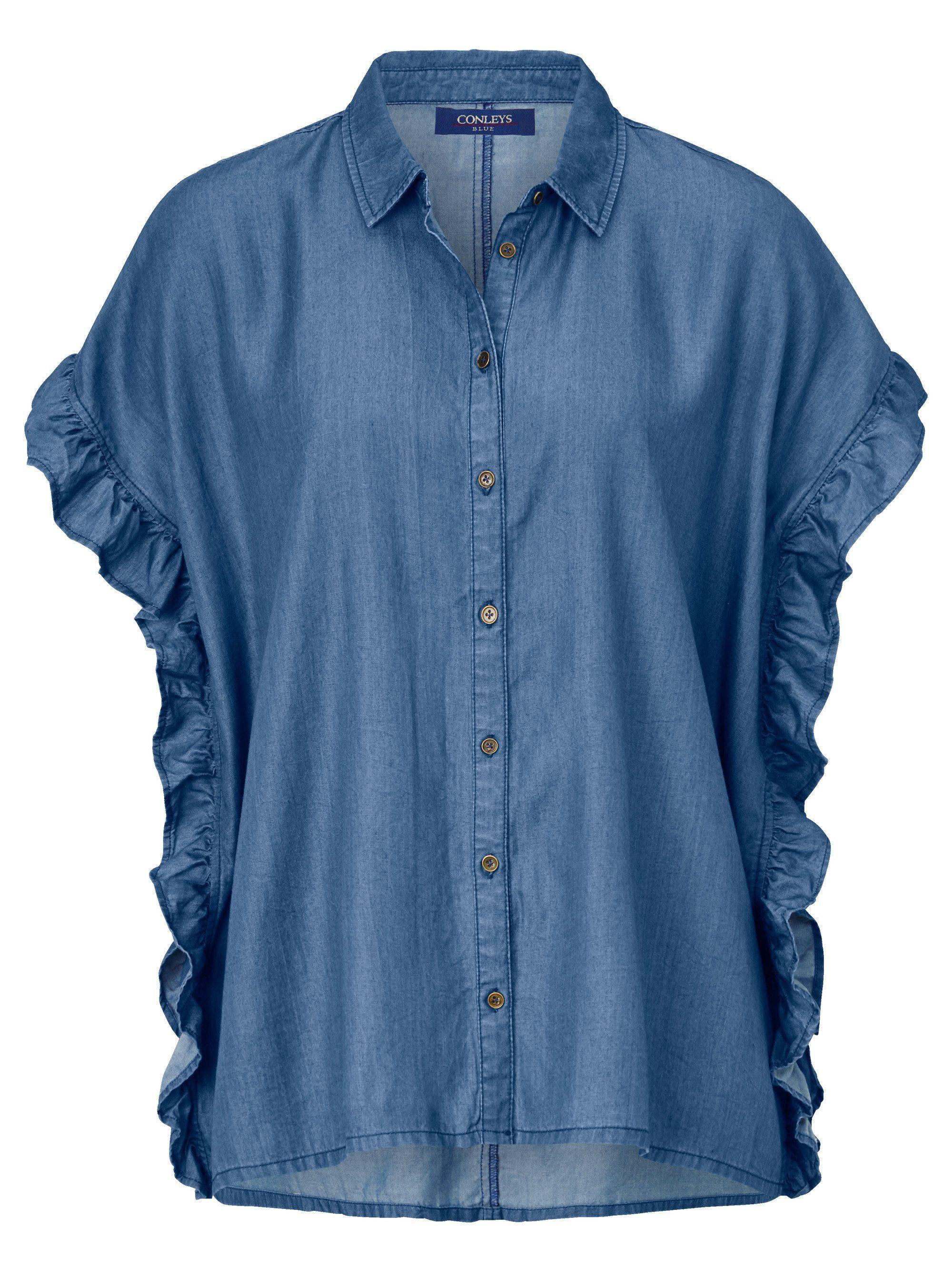 Conleys Blue Bluse im Denimlook