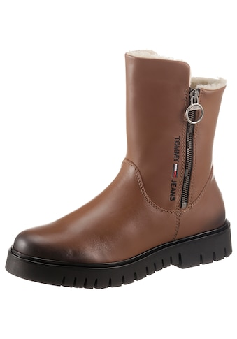 Tommy Jeans Winterboots »VISIBLE WARMLINED FLAT BOOT«, mit Logostickerei kaufen