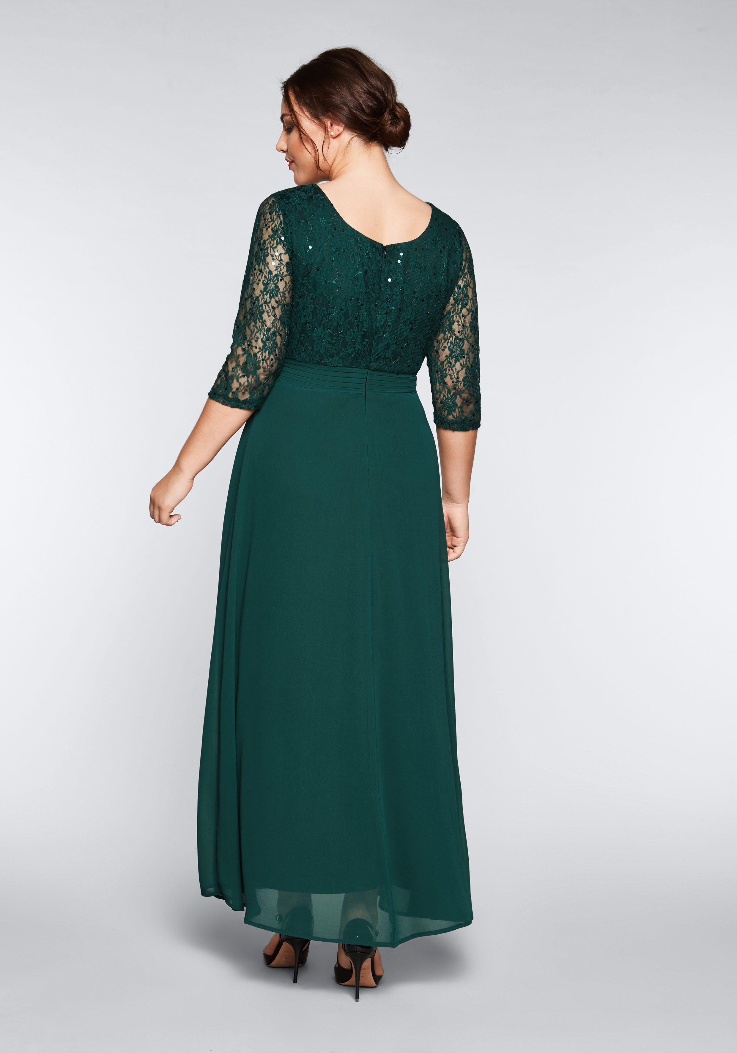 Sheego Abendkleid grün Damen Abendkleider Kleider