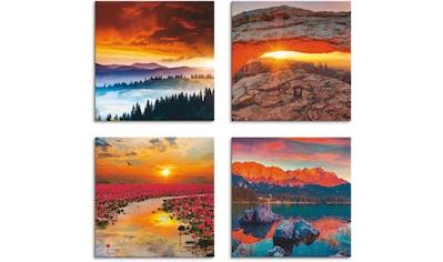 Artland Leinwandbild »Himmel Iconic Mesa Arch Lotus Sommer«, Sonnenaufgang &... kaufen