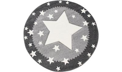 Paco Home Kinderteppich »Ela 398«, rund, 17 mm Höhe, Stern Motiv, Konturenschnitt, mit... kaufen
