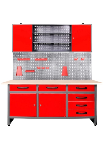 ONDIS24 Werkstatt-Set »Karsten«, 160 cm, mit LED Touch-Lampen, inkl. Hakenset kaufen