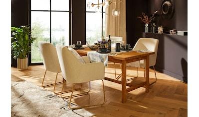 Guido Maria Kretschmer Home&Living Esstisch »Checkli«, aus massivem Eichenholz mit 2... kaufen