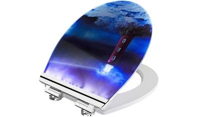 CORNAT WC-Sitz, mit integrierten LEDs, die bei Dunkelheit durch Geräusche für ca. 30 Sekunden erleuchten kaufen