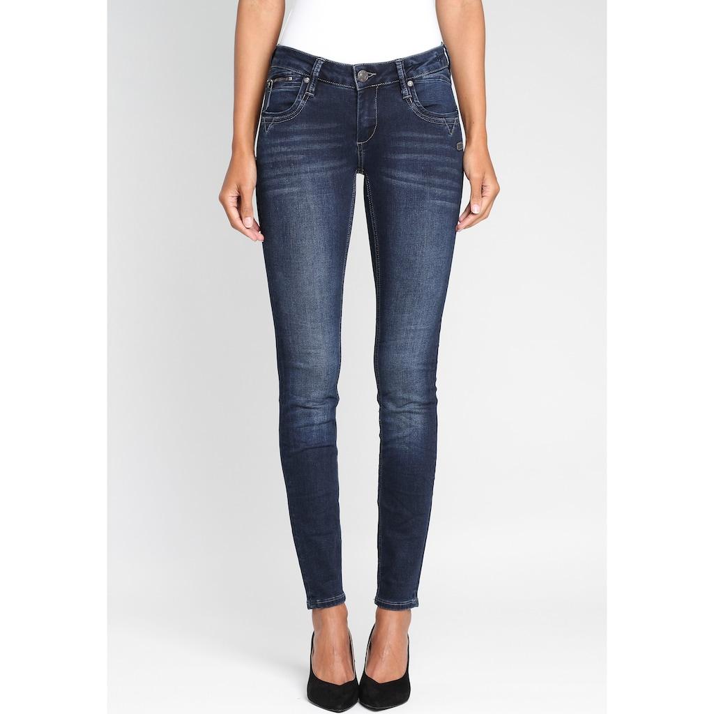 GANG Skinny-fit-Jeans »Nikita«, mit Zipper-Detail an der Coinpocket