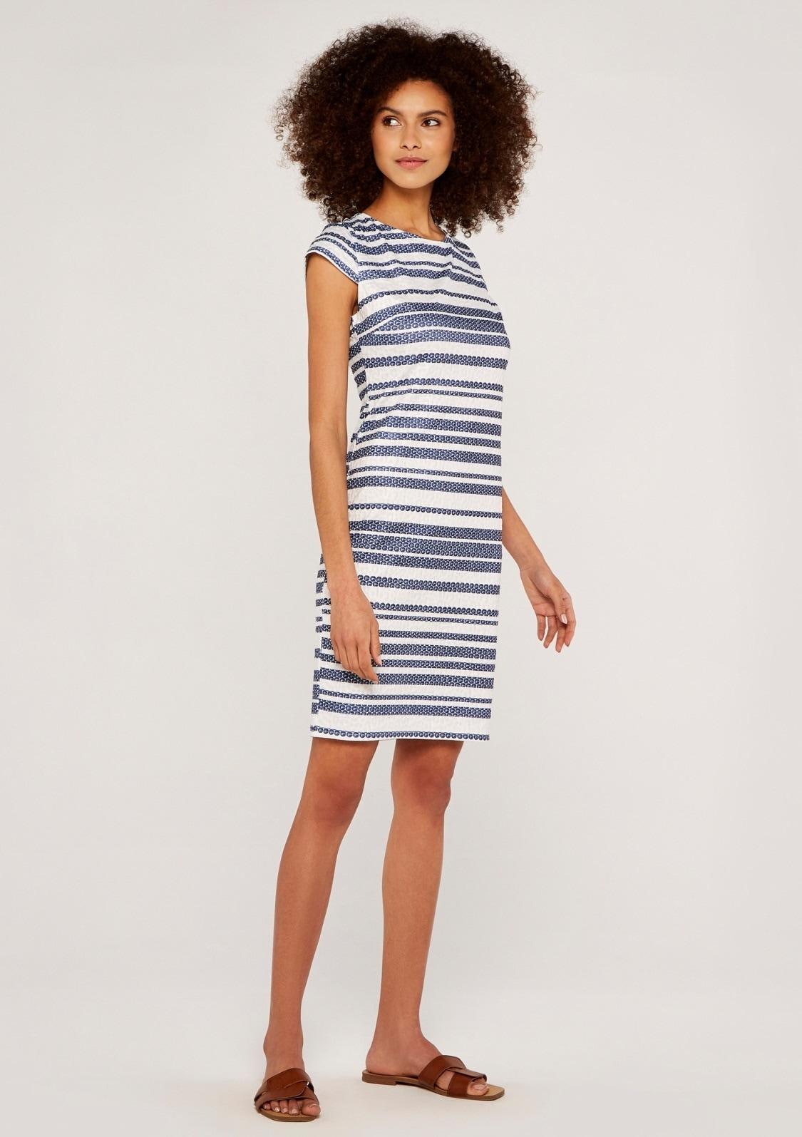 apricot -  Etuikleid Textured Stripe Bodycon Midi Dress, mit Streifen