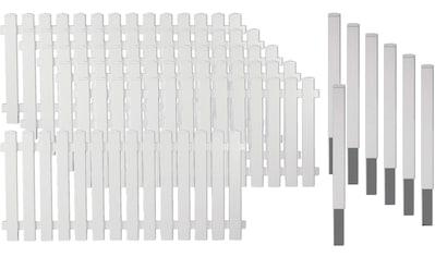 T&J Gartenzaun »Lexington 4«, Kunststoff, 80 cm hoch, 6 Elemente für 11,43 Meter Zaun,... kaufen