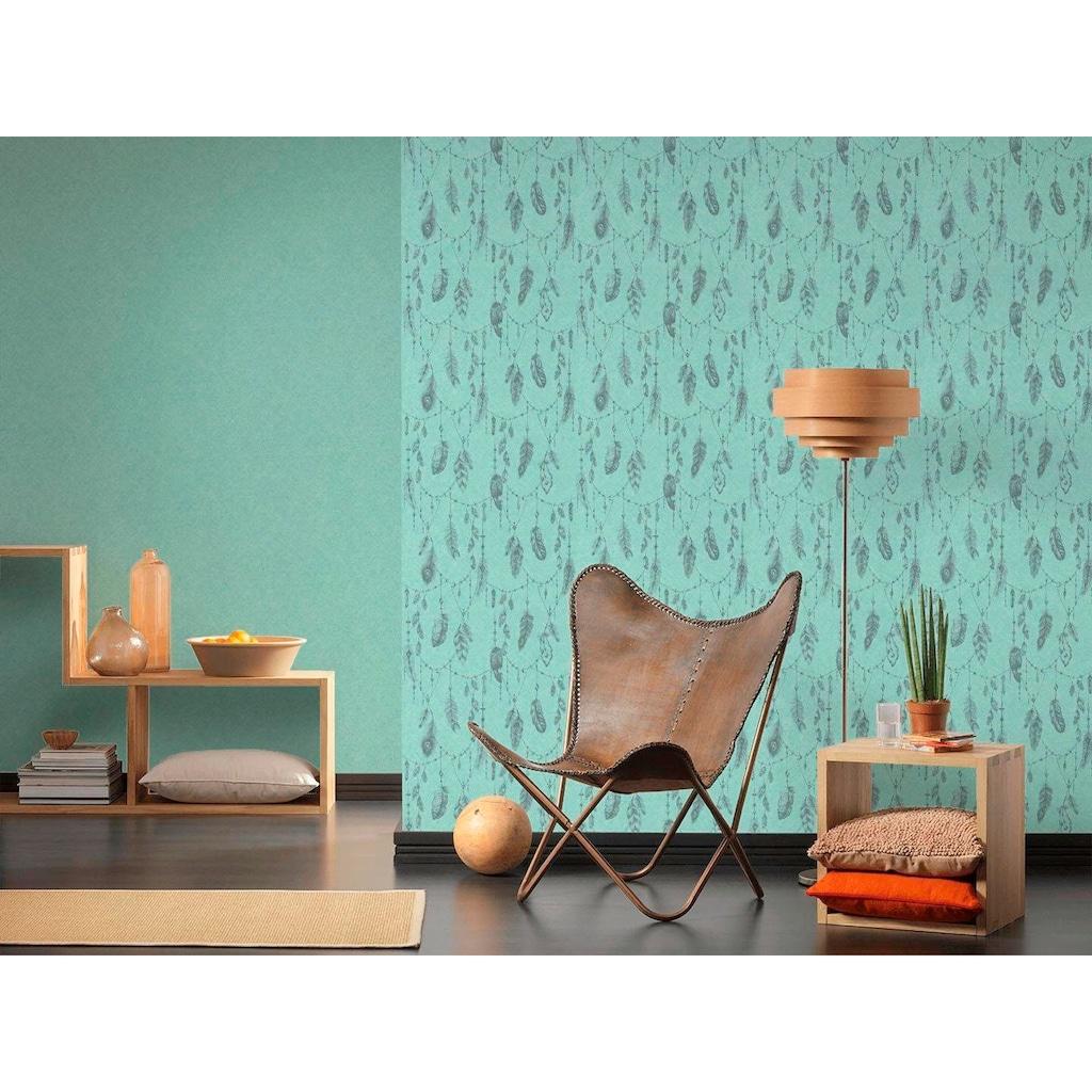 living walls Vliestapete »Boho Love«, glänzend-matt-Ethnomuster, glatt