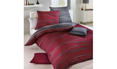 BETTWARENSHOP Wendebettwäsche »Bibermotion redgraphit«, kuschelig warm, zeitloses Design kaufen