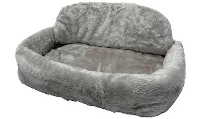 SILVIO DESIGN Hundebett und Katzenbett »de Luxe mit Kissen Gr. 1«, B/L/H: 55/35/15 cm, grau kaufen