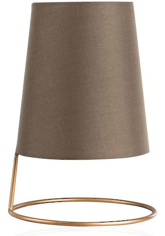 Pauleen Tischleuchte »Shiny Circle«, E14, Stoffschirm, Goldfarben, Braun kaufen