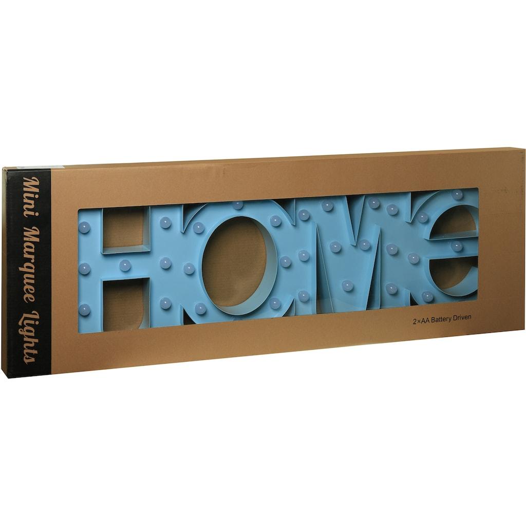 MARQUEE LIGHTS LED Dekolicht »Home Schriftzug«, 1 St., Warmweiß, Wandlampe, Tischlampe Home mit 44 festverbauten LEDs - 80cm Breit und 31cm hoch