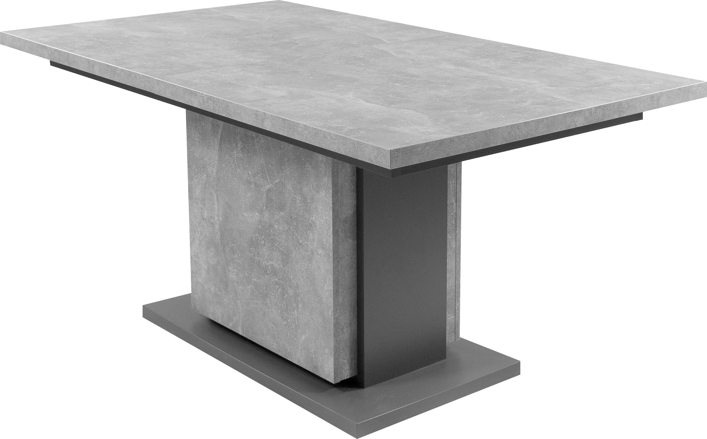 byLIVING Esstisch Britta, mit Auszugsfunktion, in 2 Breiten 140-190 cm oder 160-215 cm, Einlegeplatte im Tisch verstaubar grau Holz-Esstische Holztische Tische