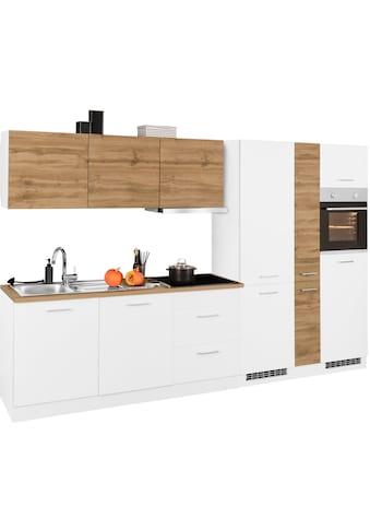 HELD MÖBEL Küchenzeile »Kehl«, mit E-Geräten, Breite 330 cm, wahlweise mit Induktionskochfeld kaufen
