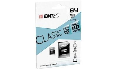 EMTEC »microSD Class10 Classic« Speicherkarte (30 MB/s Lesegeschwindigkeit maximal) kaufen