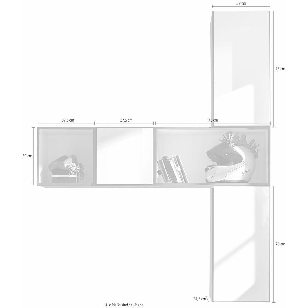 now! by hülsta Regalelement »now! to go«, (Set, 5 St.), 2 kleine und 3 große Boxen