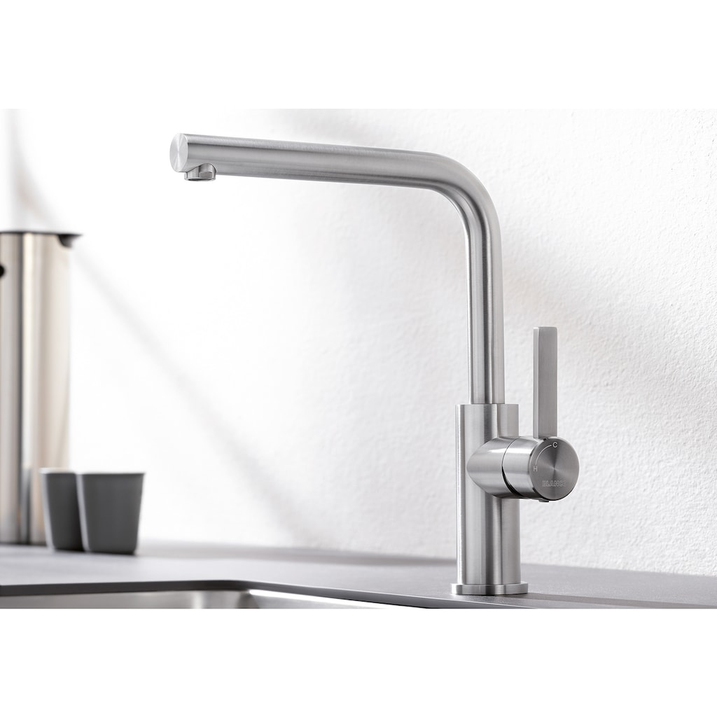 Blanco Küchenarmatur »LANORA«, Hochdruck, hochwertige Ausführung in massivem Edelstahl